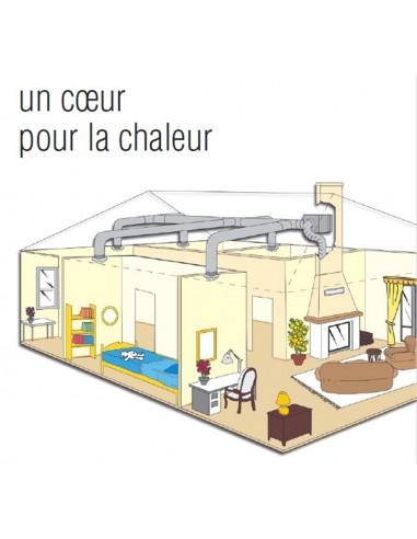 Caisson de distribution dair chaud 520m3//h difuzair de NATHER