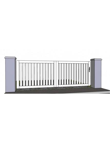 portail pvc coulissant gap 3m 5m sur mesure. Black Bedroom Furniture Sets. Home Design Ideas