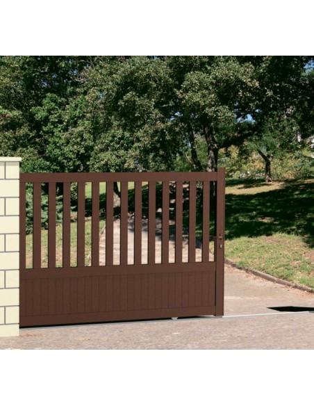 portail coulissant aluminium semi plein arqu technal l. Black Bedroom Furniture Sets. Home Design Ideas