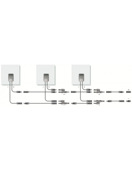 """Paire de connecteurs de dérivation """"Y"""" MC-4 pour panneau solaire . 30A, 1000V"""