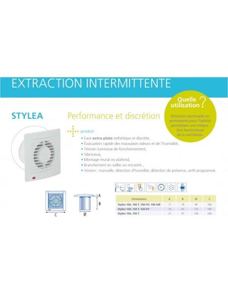 Extracteur d'air inttermitent VPI STYLEA 100 T atlantic