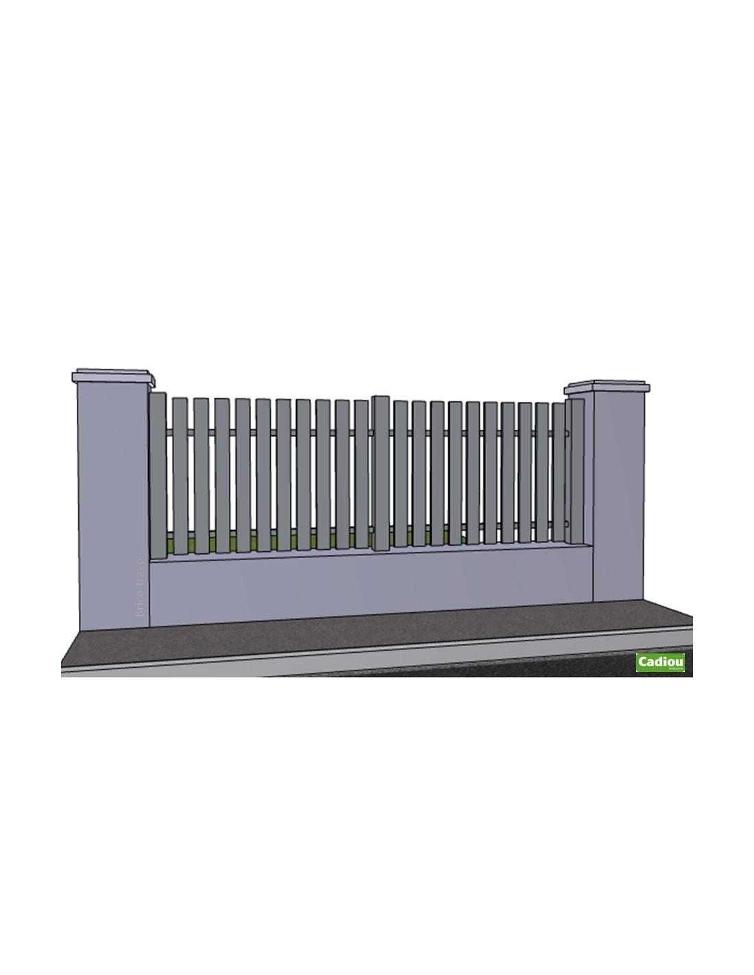 Cl ture aluminium ajour e sur mesure for Clotures aluminium