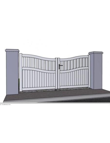 portail battant semi ajoure chapeau de gendarme collioure sur mesure. Black Bedroom Furniture Sets. Home Design Ideas