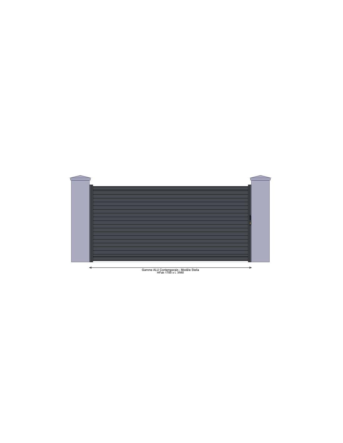 portail alu coulissant aluminium m 4 5 m mod le. Black Bedroom Furniture Sets. Home Design Ideas
