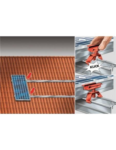 Connecteur de rails solaires