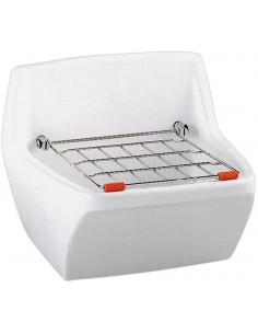 Bac à laver céramique et grille amovible
