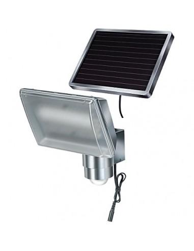 lampe led solaire ext rieure sol 80 alu ip 44 avec d tecteur infrarouge. Black Bedroom Furniture Sets. Home Design Ideas