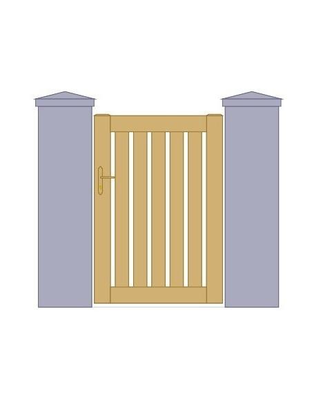 portillon aluminium droit ajour sur mesure. Black Bedroom Furniture Sets. Home Design Ideas