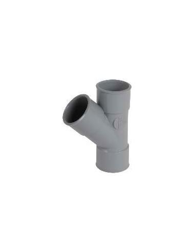 Té femelle-femelle PVC simple Ø 32 à 45° NICOLL