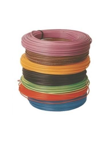 Fil éléctrique rigide 1.5 mm2, bobine 100 M, H07VU, 7 couleurs