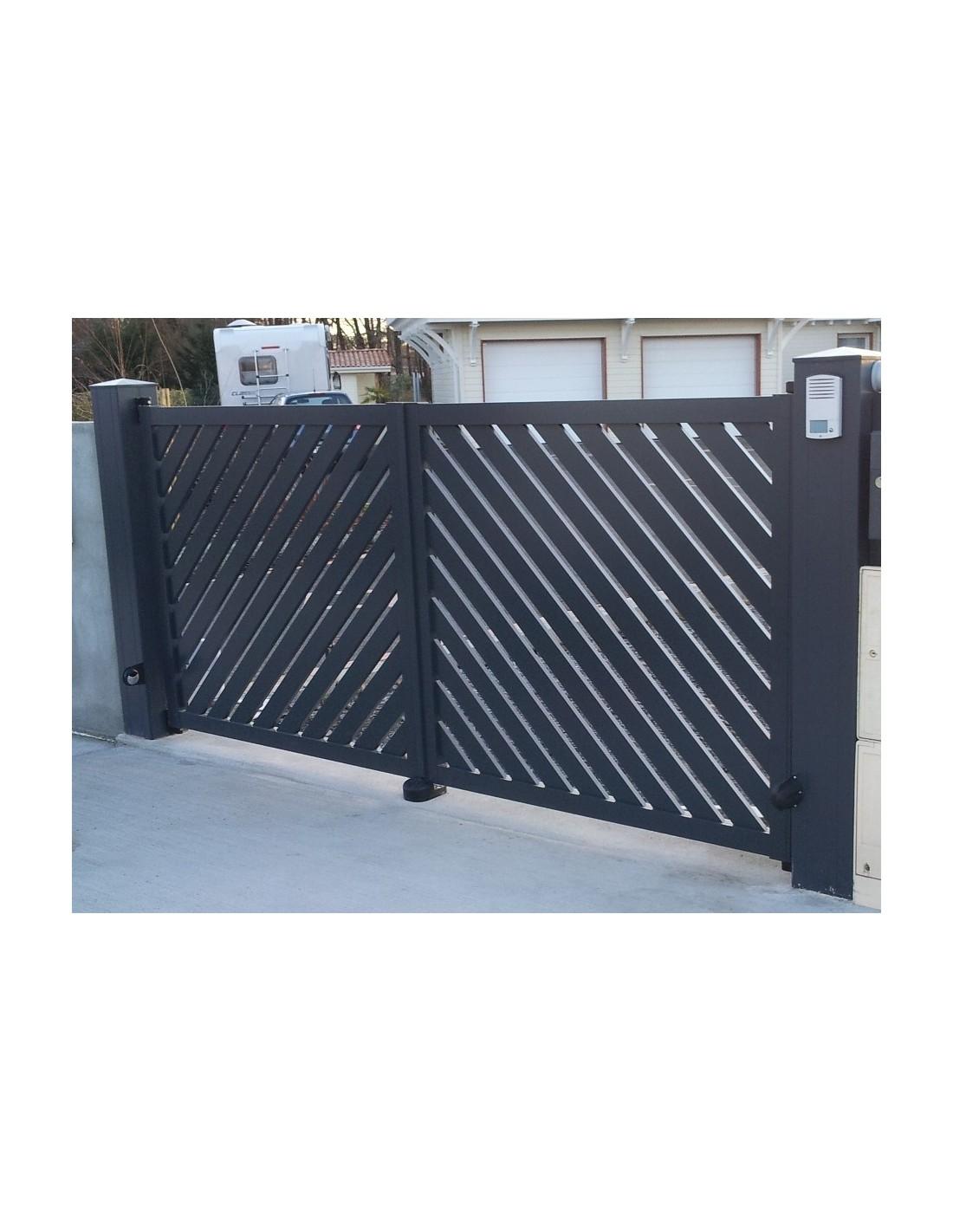 portail coulissant aluminium mimizan 3 00 m 6 00 m. Black Bedroom Furniture Sets. Home Design Ideas