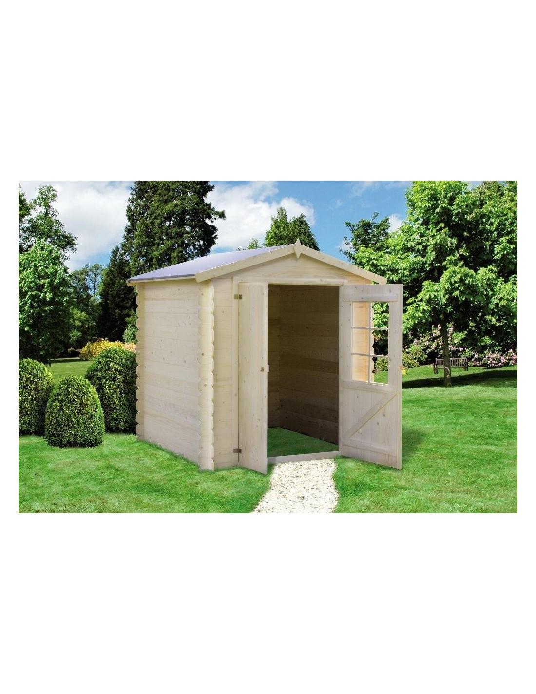 chalet de jardin en bois 2x2m paisseur 19mm2. Black Bedroom Furniture Sets. Home Design Ideas