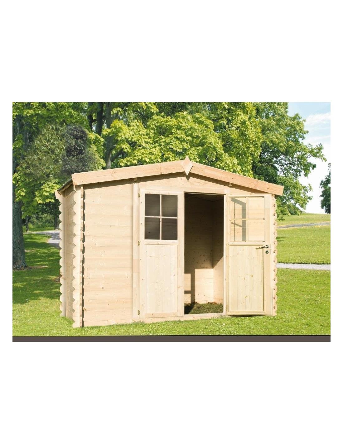 chalet de jardin en bois 3x2m p 19mm2. Black Bedroom Furniture Sets. Home Design Ideas