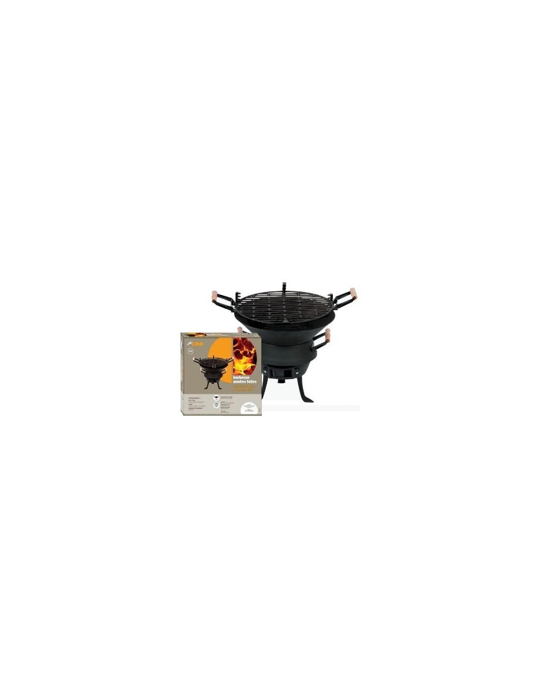 Barbecue rond fonte acier à l'ancienne PM années folles Cao