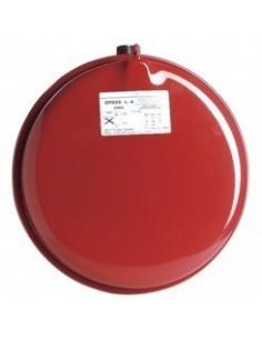 Vase d'expansion plat rond a membrane diamètre 387mm. capacité 18 litres