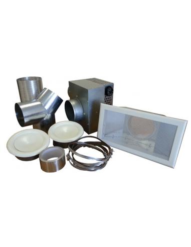 Kit 2 bouches récupérateur de chaleur pour poêle à bois 250 m3/h